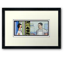 Archer's Burgers Framed Print