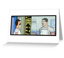 Archer's Burgers Greeting Card