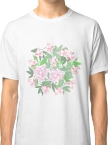 Flowers  and Pink Peonies Classic T-Shirt