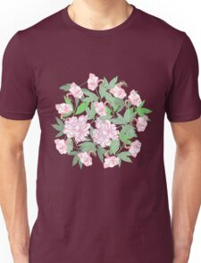 Flowers  and Pink Peonies Unisex T-Shirt
