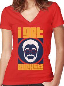 I Get Buckets - I'm Back Women's Fitted V-Neck T-Shirt