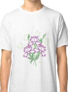 White Blue Irises and Tulips Classic T-Shirt