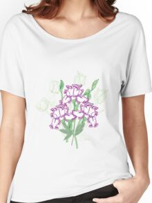 White Blue Irises and Tulips Women's Relaxed Fit T-Shirt