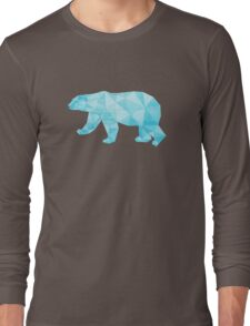 Geometric Ice Bear Long Sleeve T-Shirt