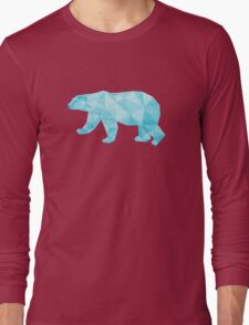 Geometric Ice Bear Long Sleeve T-Shirt
