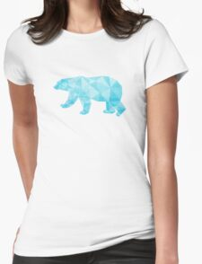 Geometric Ice Bear Womens Fitted T-Shirt