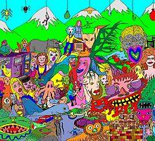 Alpine doodle by David Fraser