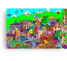 Alpine doodle Canvas Print
