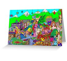 Alpine doodle Greeting Card
