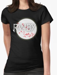 RWBY red moon blossoms Womens Fitted T-Shirt