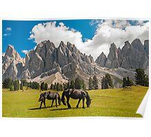 Funes Valley,Dolomites,Italy Poster