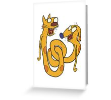 CatDawg - Coloured Greeting Card