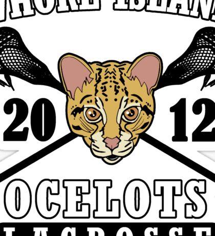 Go Ocelots! (Black Fill) Sticker