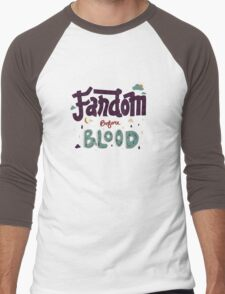 Fandom Before Blood Men's Baseball ¾ T-Shirt