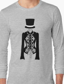 black rose ghost Long Sleeve T-Shirt