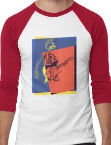 Pop Art Skeleton Guitar 3 Men's Baseball ¾ T-Shirt
