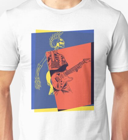 Pop Art Skeleton Guitar 3 Unisex T-Shirt