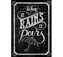 When It Rains It Pours - Tupac Shakur Photographic Print