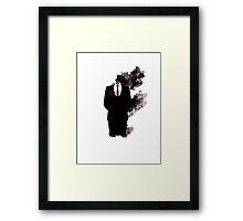 Black smoke  Framed Print