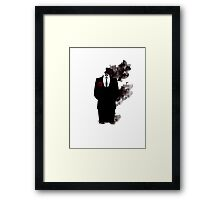 Black smoke  Framed Print