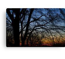Stain Glass sky.    Canvas Print