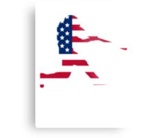 Baseball Batter American Flag Metal Print