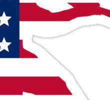 Baseball Batter American Flag Sticker