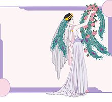 Art Deco Bride by redqueenself