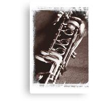 Old Clarinet Canvas Print