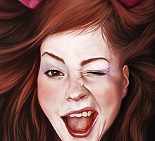 Wink girl by jordygraph