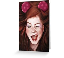 Wink girl Greeting Card