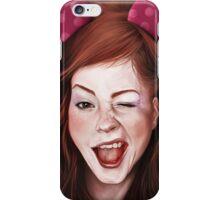 Wink girl iPhone Case/Skin