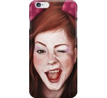 Wink girl iPhone Case/Skin