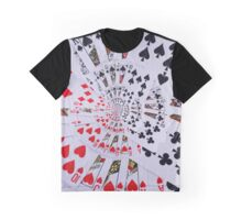 Poker Royal Flush All Suits Droste Spiral Graphic T-Shirt