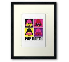 Pop Darth Framed Print