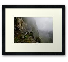 Road into the Clouds Framed Print