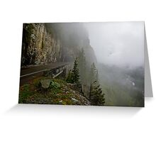 Road into the Clouds Greeting Card