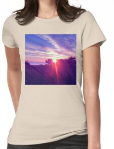 Cocoa Sunrise Womens Fitted T-Shirt