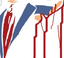 Democracy Is So Overrated (Dark Blood) Sticker