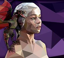Daenerys and her dragon by Kara Graphic Design