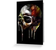Syrupy Skull Greeting Card