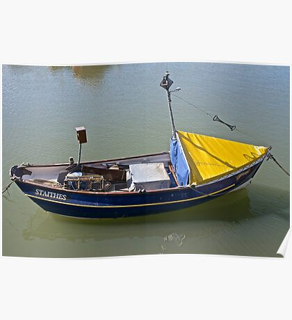 Small Fishing Boat Poster