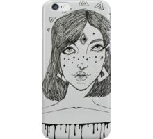 Floating in White iPhone Case/Skin