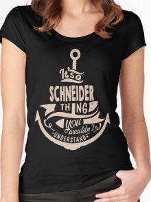 It's a SCHNEIDER shirt Women's Fitted Scoop T-Shirt