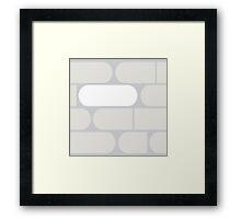 Bitter Pills in Gray Framed Print