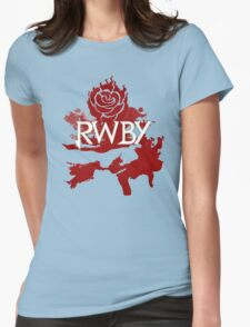 RWBY red rose Womens Fitted T-Shirt