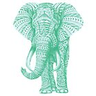 Blue Patterned Elephant  by Greenhalgh