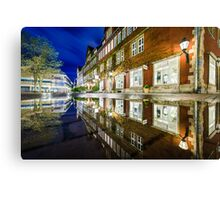 Hannover Rain Reflection Canvas Print