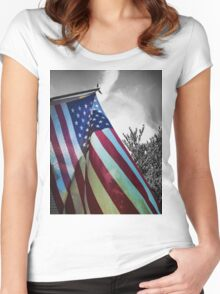Home of the Free Women's Fitted Scoop T-Shirt