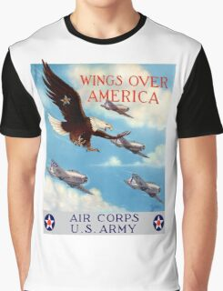 Wings Over America -- Air Corps WWII Graphic T-Shirt